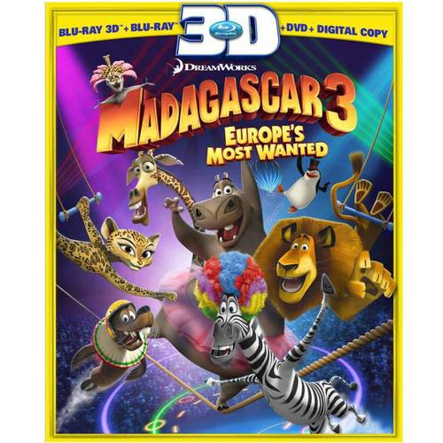 Madagascar 3: Europe's Most Wanted (3D Blu-ray + Blu-ray + DVD + Digital Copy) (With INSTAWATCH) (Widescreen)