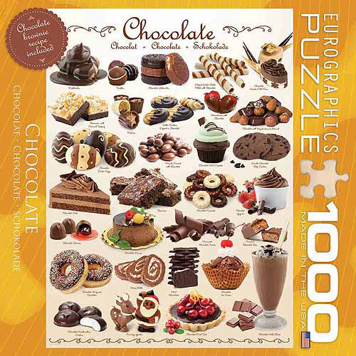 EuroGraphics Chocolate 1000-Piece Puzzle, Small Box