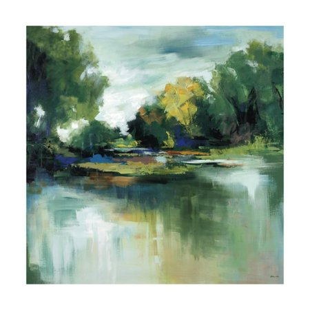 Fresh Escape I Contemporary Green Abstract Landscape Print Wall Art By Sydney Edmunds