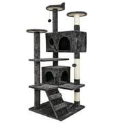 Zenstyle 53-in Cat Tree & Condo Scratching Post Tower, Dark Gray