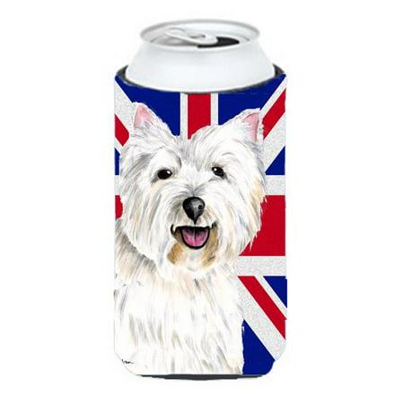 Westie With English Union Jack British Flag Tall Boy bottle sleeve Hugger - 22 To 24 Oz. - image 1 de 1