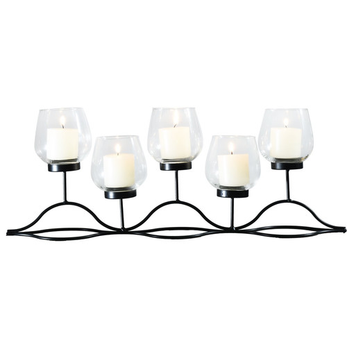 Adeco Trading Glass Candelabra by Overstock