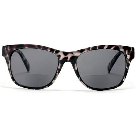 Bora Tortoise Bi-Focal Sun Readers Sunglasses Gray - 1 / (One Sun Sunglasses)