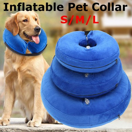 Pets Inflatable E-Collar Anti-bite Recovery Wound Protective Collar For Dogs & Cats