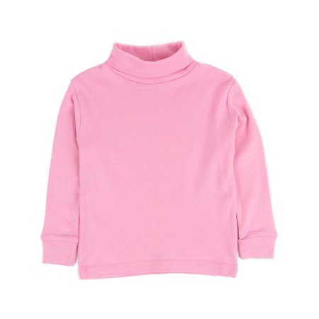 Leveret Solid Turtleneck 100% Cotton (8 Years, Light Pink)