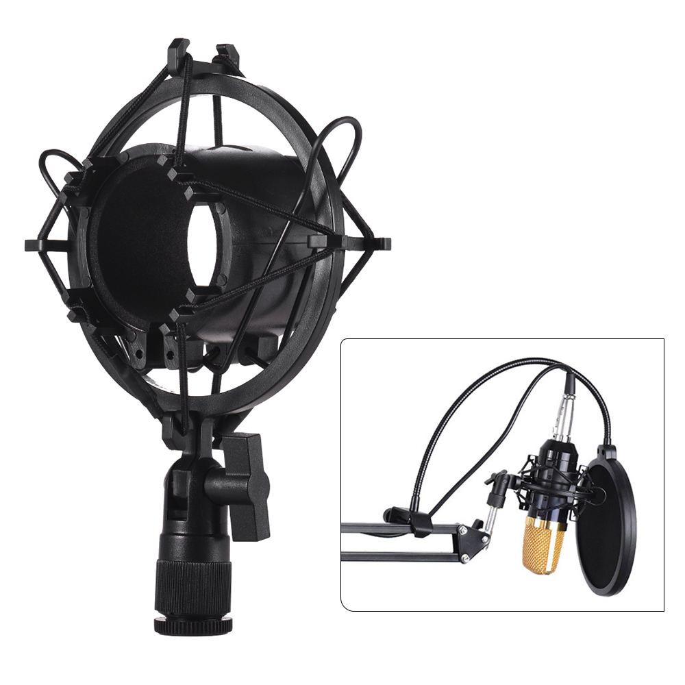 Univerdal Condenser Microphone Mic Shock Mount Holder Bracket Plastic Anti-vibration for On-line Broadcasting Studio Music Recording