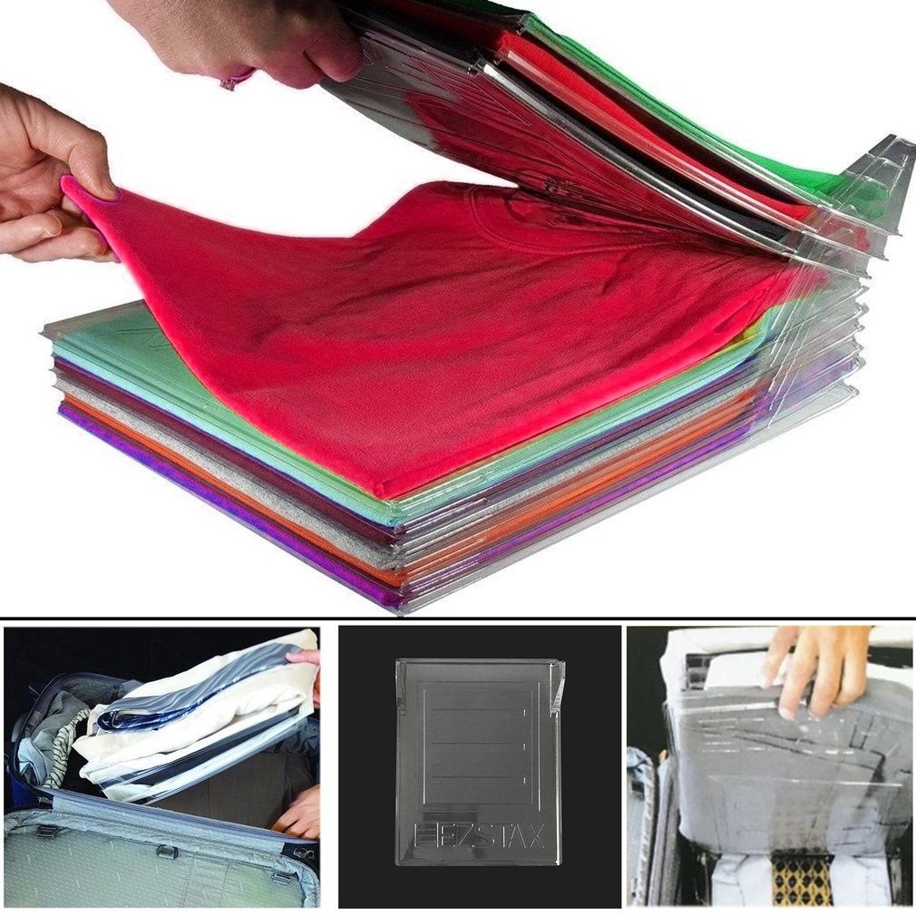 5 Pcs Anti-wrinkle Clothes Fold Board Organizing Rack T-shirt Fold Organizer