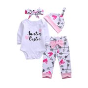 Newborn Girls Clothes Baby Romper Outfit Pants Set Long Sleeve Toddler Infant Winter Clothing