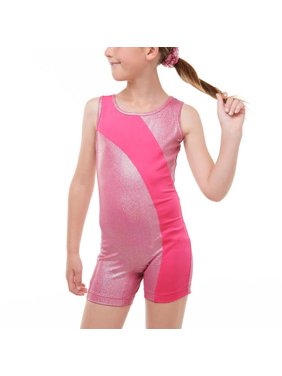 Danskin Now Girls' Foil Unitard With Piecing And Hair Tie (Little Girls & Big Girls)