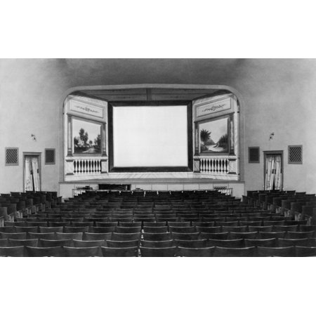 Screen And Stage Of A 1921 Movie Theater In The Town Of Canton History - Halloween Town Movie Theater Scene
