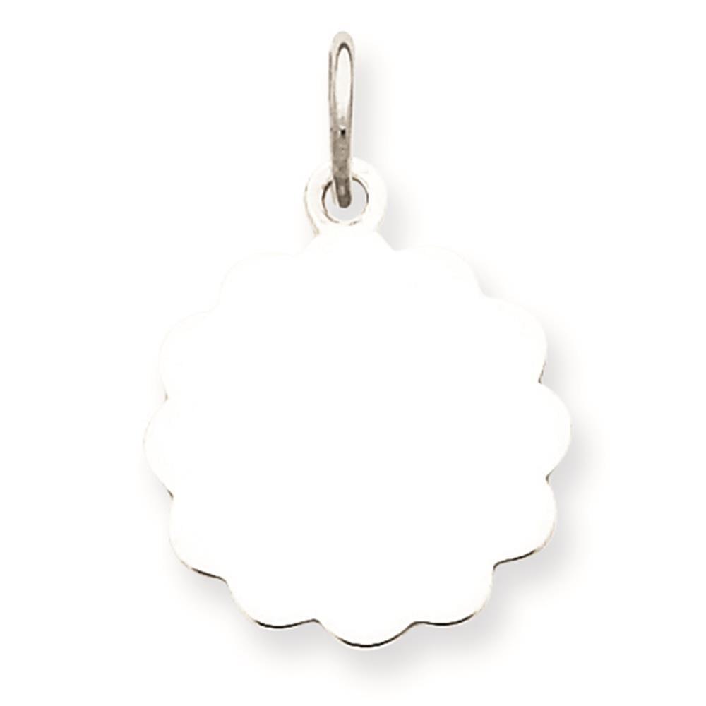 925 Sterling Engravable Disc Charm Pendant