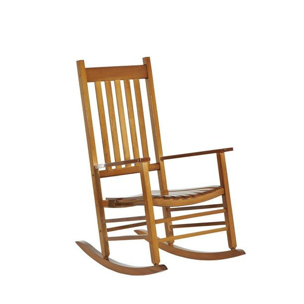Outsunny Versatile Wooden Indoor / Outdoor High Back Slat ...
