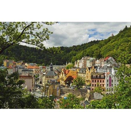 Historic Spa Section of Karlovy Vary, Bohemia, Czech Republic, Europe Print Wall Art By Jochen Schlenker