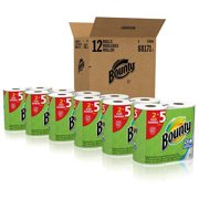 Bounty Paper Towels, White, 12 Ct