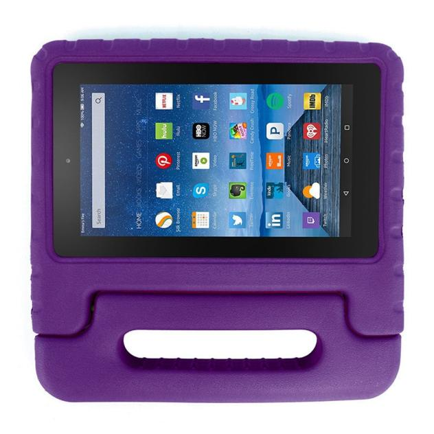 Kids Shock Proof EVA Handle Case Cover for Amazon Kindle Fire HD 7 2015 Purple