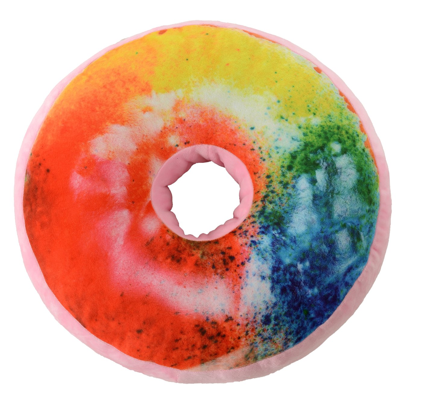 Cheer Collection Reversible Plush Donut Throw Pillow