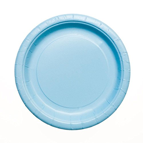 Paper Plates, 7 in, Light Blue, 20ct