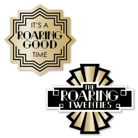 Roaring 20's - Shaped 1920s Art Deco Jazz Party Cut-Outs - 24 Count](The Roaring 1920s)