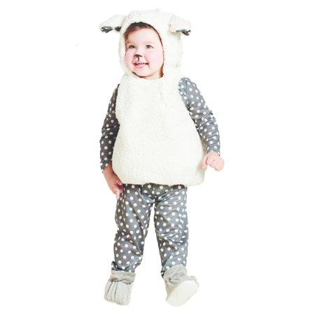 Sheep Costumes (Infant Girls Baby Lamb Costume White Sheep Vest Polka Dot Shirt &)