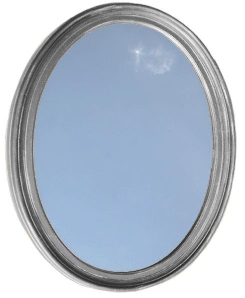 Bathroom Mirror Vanity Round Oval Framed Wall Mirror Satin Nickel by HowPlumb