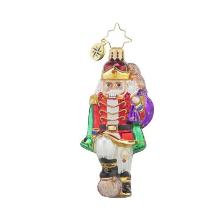 Major Cracker Gem Glass Christmas Ornament, Mouth Blown and Hand Painted in Poland By Christopher Radko