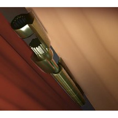 DoorSaver II Bumperless Hinge Pin Door Stop in Polished Brass Finish