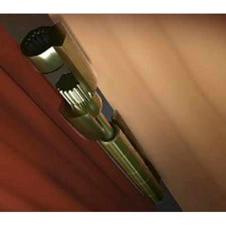 DoorSaver II Bumperless Hinge Pin Door Stop in Polished Brass Finish ()
