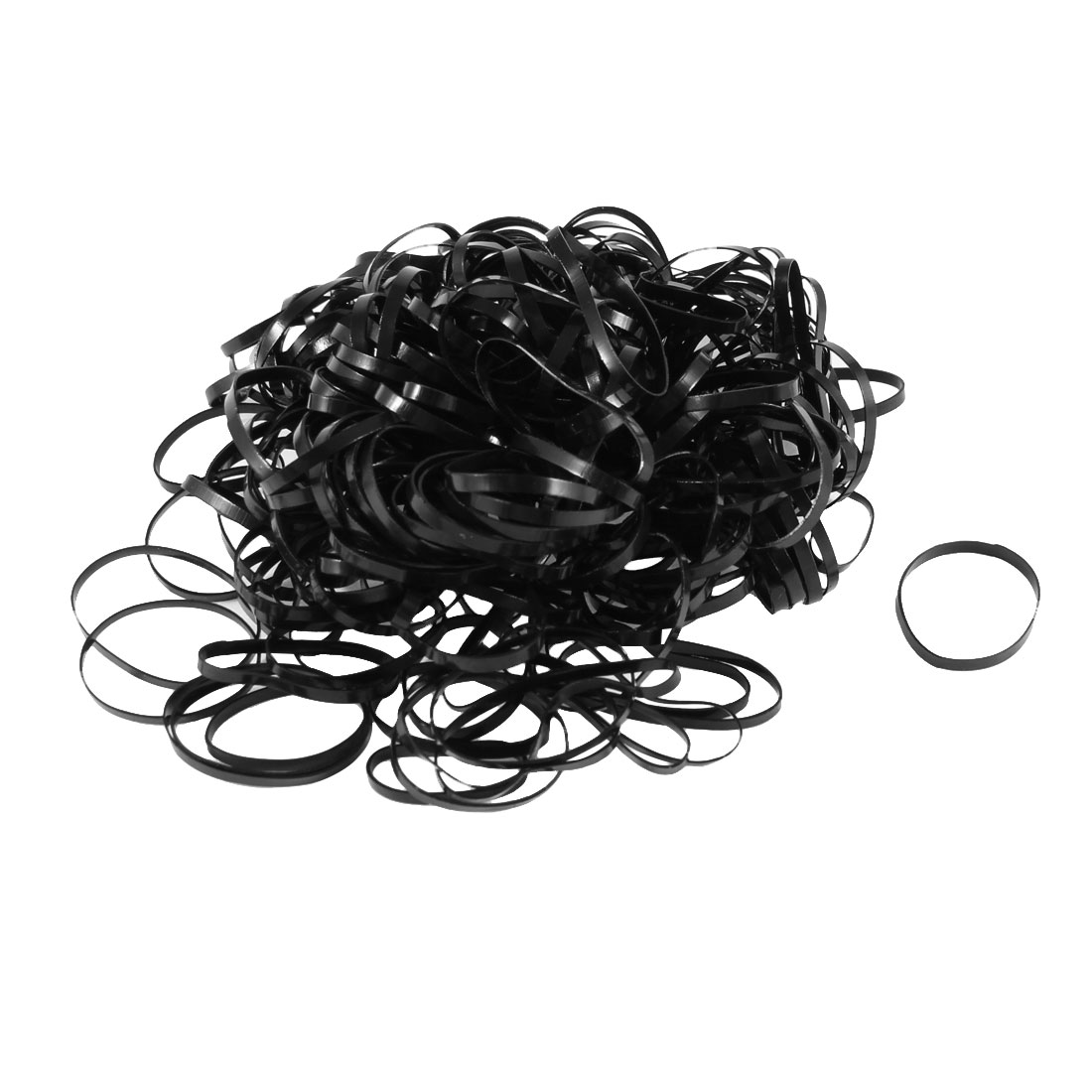 Unique Bargains Lady Hair Decoration 255 Pcs Black Stretchy Rubber Ties Hair Bands