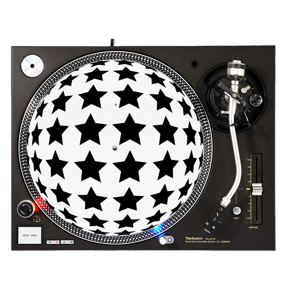 """KuzmarK™ 12"""" DJ Turntable Slipmat - Stars Beyond Spheres"""