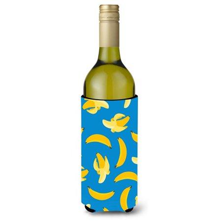 Bananas on Blue Wine Bottle Beverge Insulator Hugger - image 1 de 1