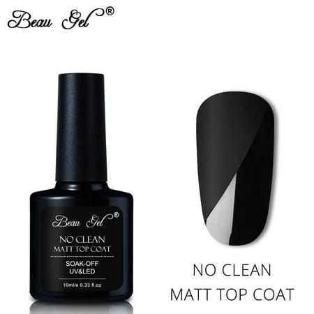 Beau Gel 10ml Gel Polish Varnish Soak Off UV Led No Wiping Matt Top Coat Manicure