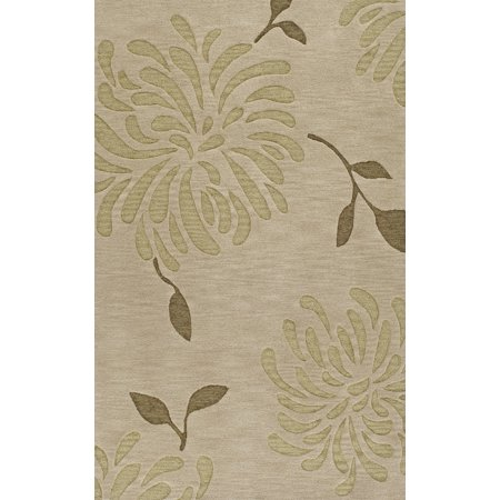- Dalyn Transitions Area Rugs - TR5 Transitional Casual Brown Leaves Vines Petals Flowers Rug