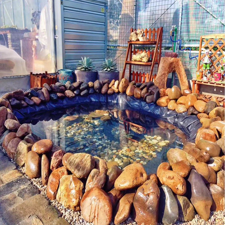 8-32ft Sizes Fish Pond Liner Gardens Pools PVC Membrane Reinforced Landscaping