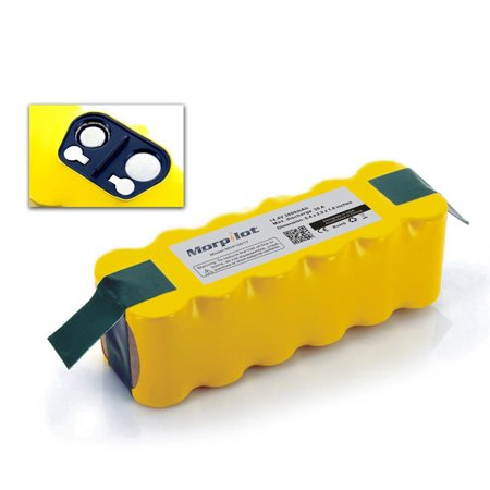 Morpilot 3800mAh Ni-MH Battery for  Roomba 500 510 530 531 532 533 535 536 540 545 550 551 552 560 562 565C 570 580 581 585 595 600 610 611 620 625 625 630 660 700 760 770 780 790 800 870 880](battery for roomba 870)