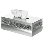 Creative Scents Rectangular Brushed Nickel Tissue Box