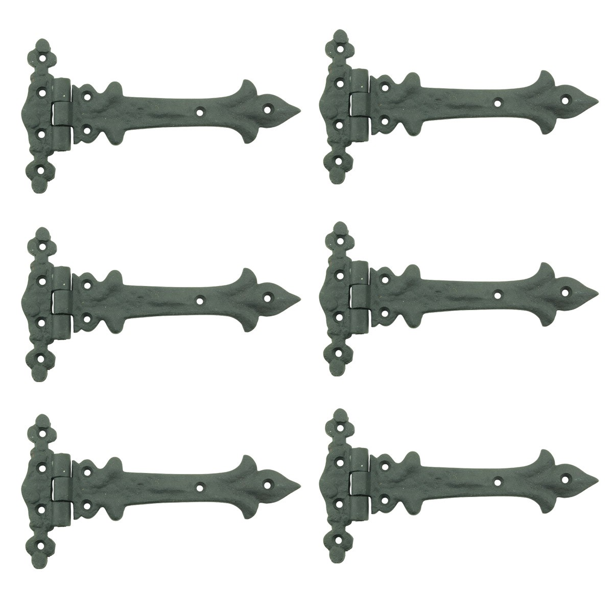 7 Inch Wrought Iron Strap Hinge Southern Charm RSF Resistant Barn Pack of 6