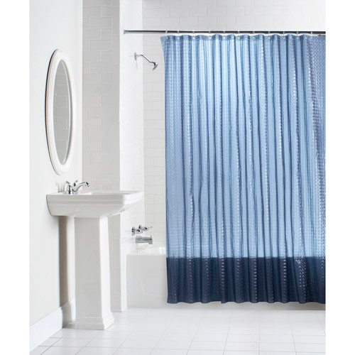 Mainstays Lenticular Solid Color PEVA Shower Curtain Collection