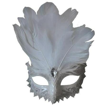 Carnivale Eye Mask White - Carnivale Chicago Halloween