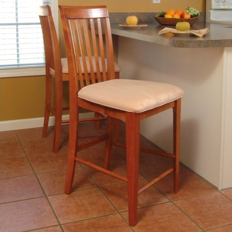 Atlantic furniture montreal 25 5 counter stool in caramel for Walmart meuble montreal