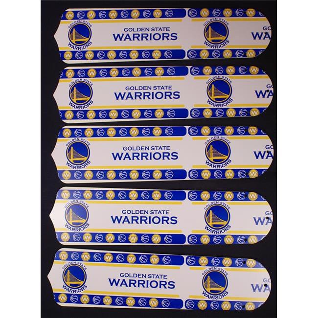 Ceiling Fan Designers 52SET-NBA-GS 52 in. NBA Golden State Warriors Basketball Ceiling Fan Blades
