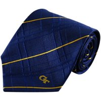 Georgia Tech Yellow Jackets Navy Blue Oxford Woven Tie - No Size