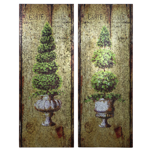 Selectives Topiary Wall Decor (Set of 2)