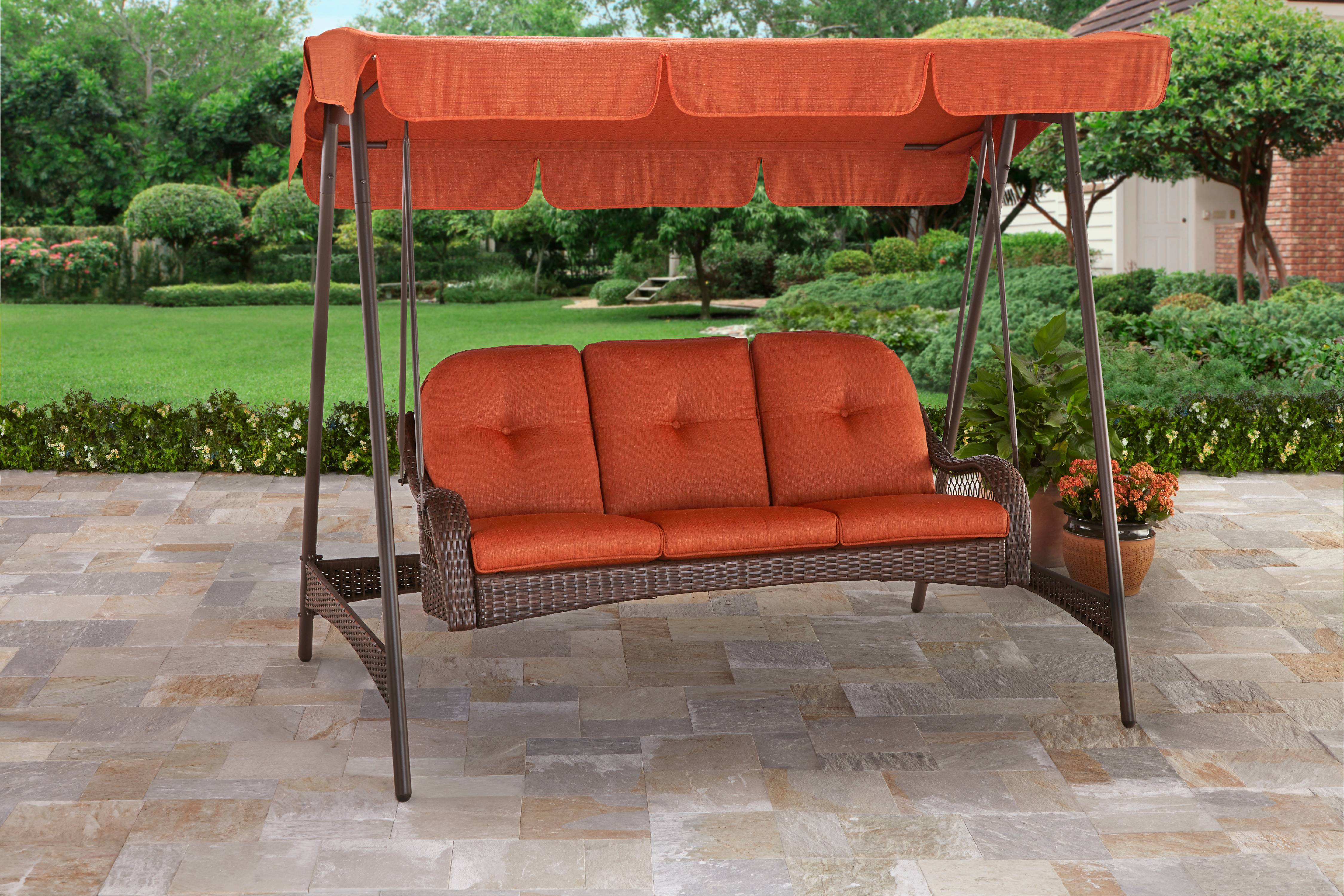 better homes and gardens azalea ridge replacement cushions. Better Homes And Gardens Azalea Ridge 3-Person Porch Swing With Canopy Replacement Cushions C