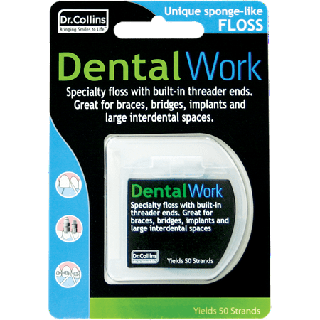 Dr. Collins Dental Work Specialty Floss Strands, 50 Ct