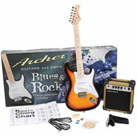 Archer SS10 Blues and Rock Jr. Electric Guitar Package - Sunburst