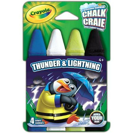 Crayola Chalk 4/Pkg-Thunder & Lightning
