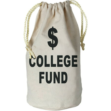 College Fund Money Bag Adult Halloween Accessory - College Humor Racist Halloween