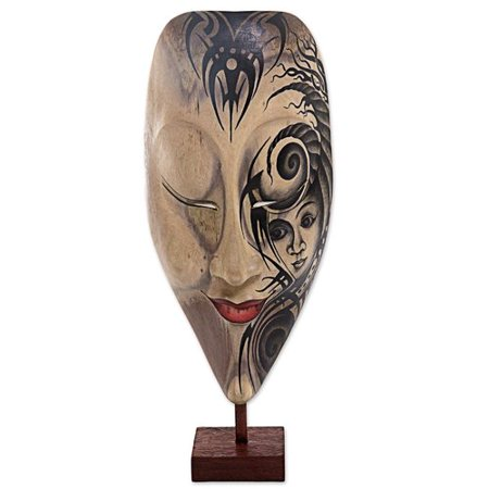 Bloomsbury Market Mcatee Bewitched Wood Mask