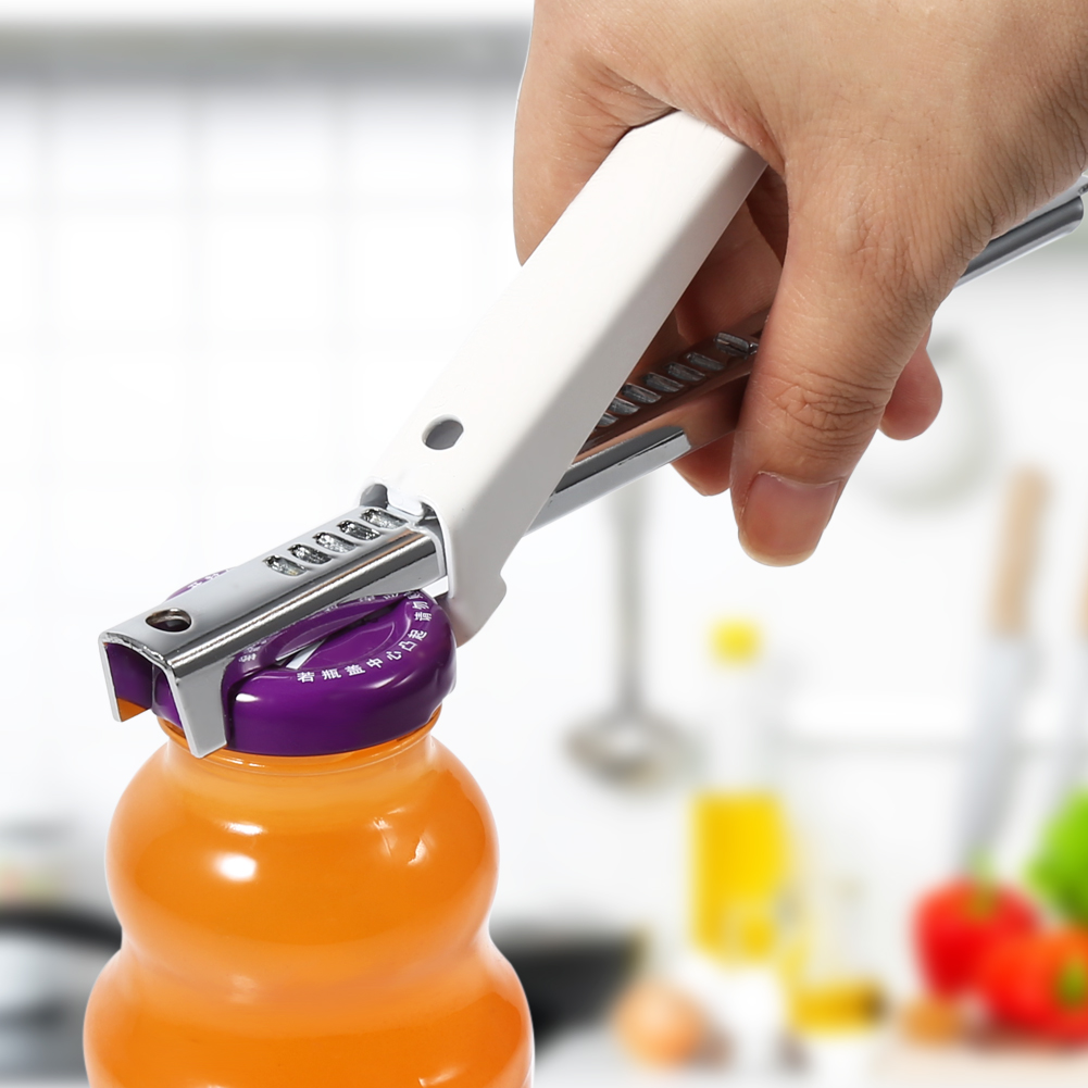 Yosoo Can Opener Bottle Opener,Practical Stainless Steel Adjustable Professional Can Bottle Jar Lid Opener Manual Kitchen Tool