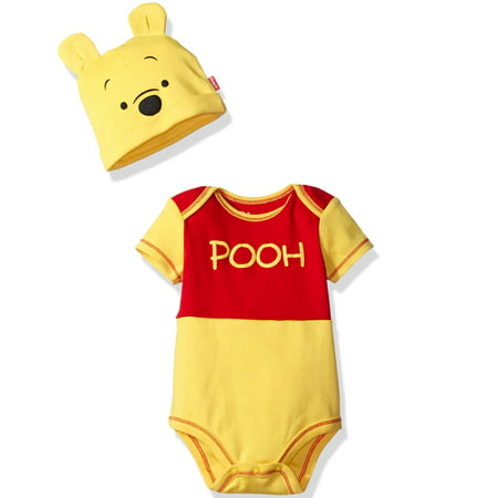 Disney Winnie the Pooh Baby Costume Bodysuit and Cap Set Yellow